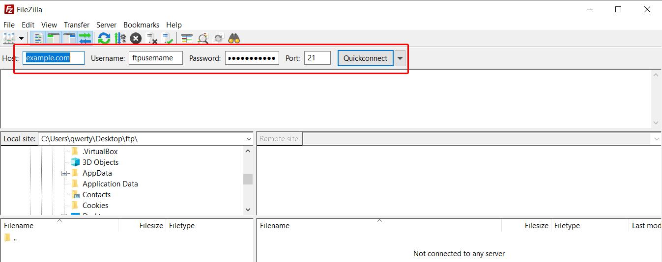 Access files using FileZilla | ZesleCP
